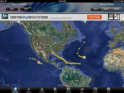 Aplicaciones para ayudar a rastrear huracanes [iOS]