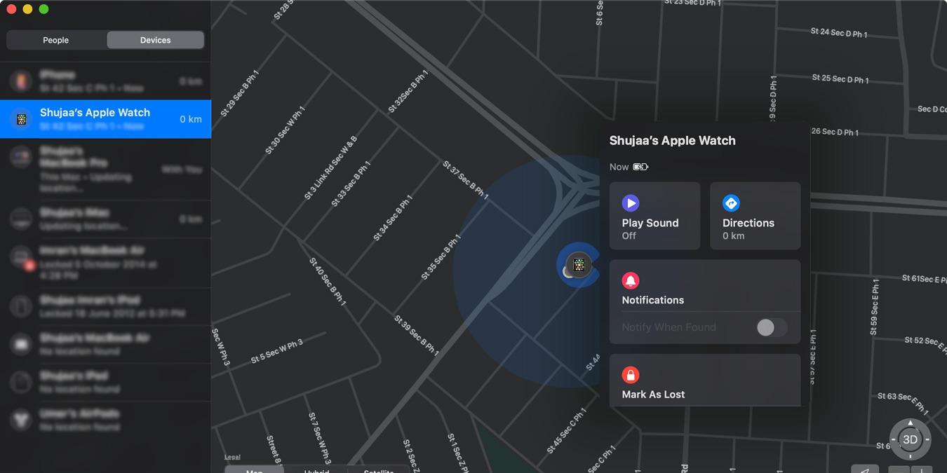 Cómo ubicar un Apple Watch perdido usando Buscar mi aplicación