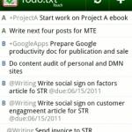 Tomando su lista de tareas móviles con Todo.txt Touch