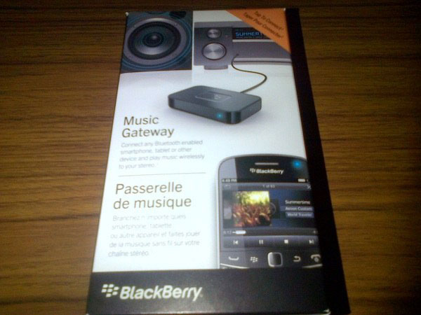 Reproduce tu música de forma inalámbrica con The Blackberry Music Gateway