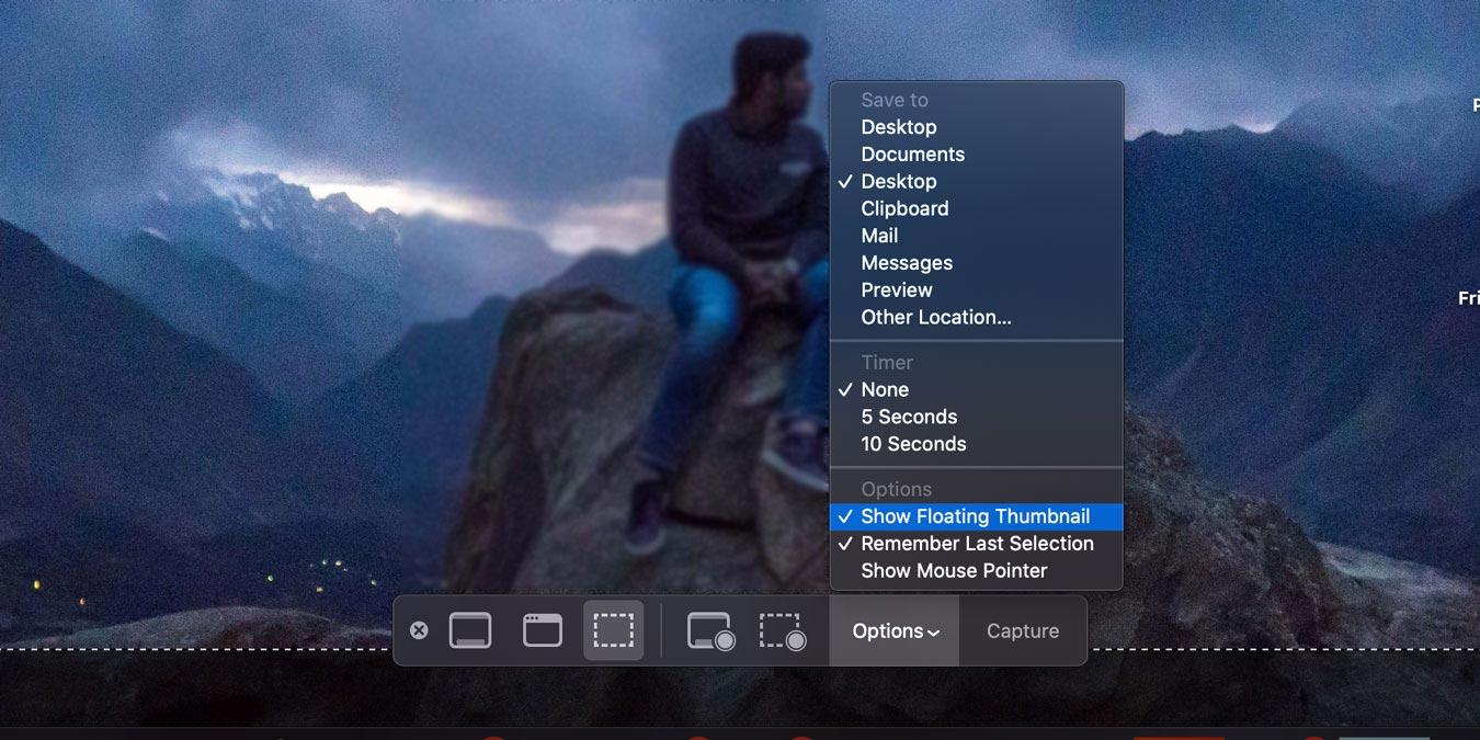 Cómo deshacerse de la vista previa de la captura de pantalla flotante en macOS