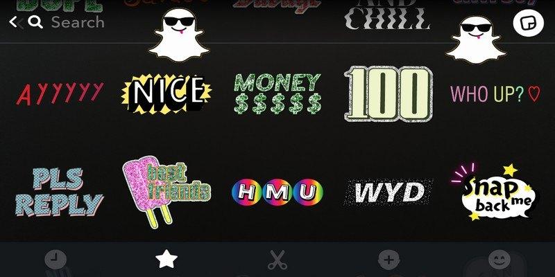 Cree y utilice fácilmente todo tipo de pegatinas en Snapchat