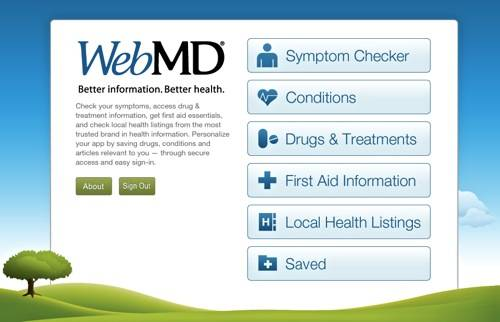 WebMD para iOS: una aplicación útil para problemas médicos en movimiento