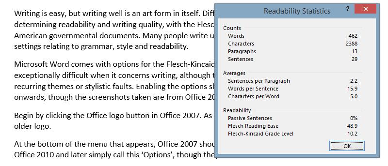 Cómo hacer que Microsoft Word verifique la legibilidad de su documento