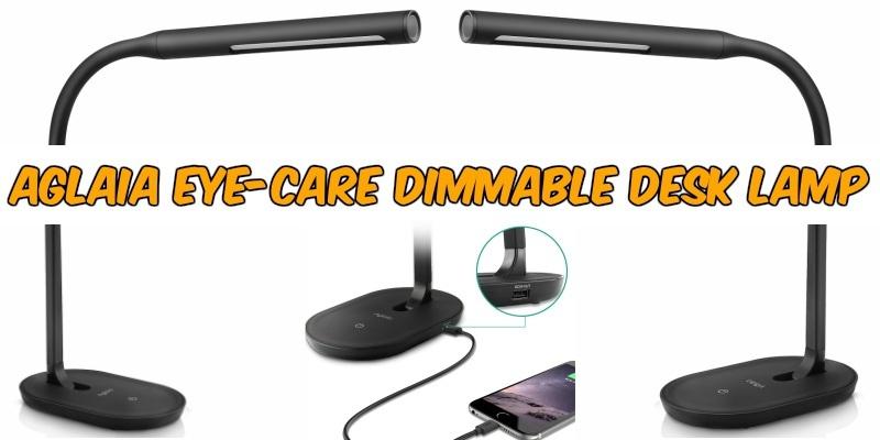 Lámpara de escritorio Aglaia con cuello flexible de 360° y regulador táctil de 3 niveles