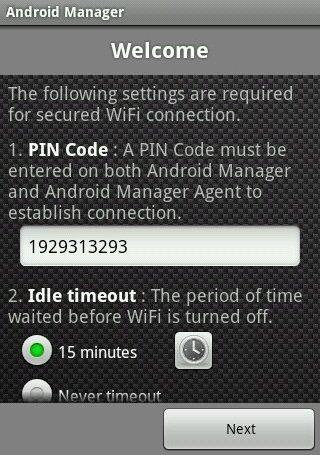 Sincronice su teléfono Android en su escritorio: Android Manager WiFi