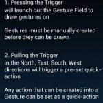 Uso de gestos para iniciar rápidamente aplicaciones en Android