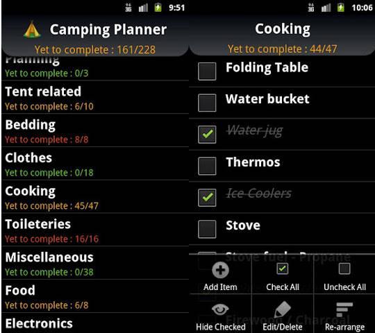 8 aplicaciones Android que debe tener para su viaje de acampada al aire libre