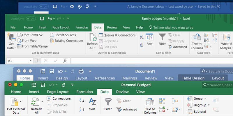 Las decepcionantes diferencias de Microsoft Office para Mac