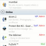 Gran lista de aplicaciones de mensajería de Android