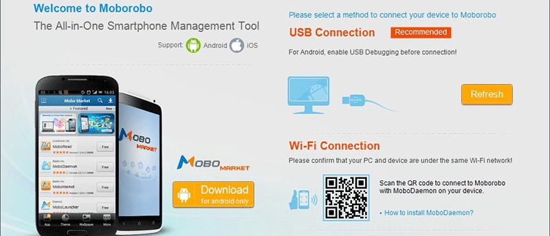 Administre fácilmente su dispositivo Android con MoboRobo