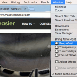 """Cómo mantener su ventana de aplicación """"Siempre en la parte superior"""" en Mac"""