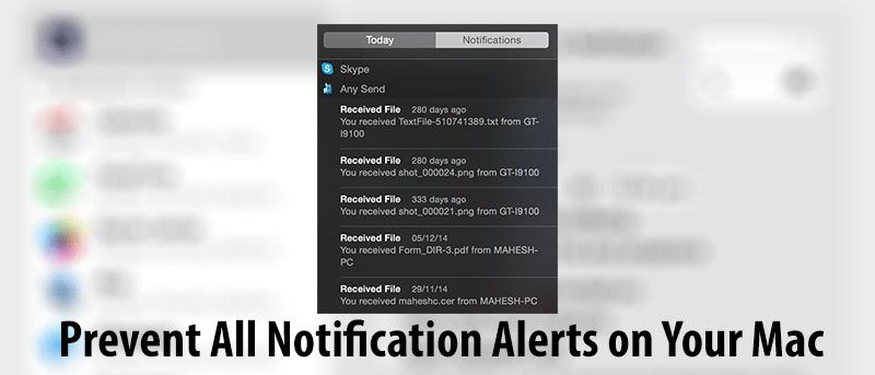 Cómo deshabilitar todas las alertas de notificación en su Mac