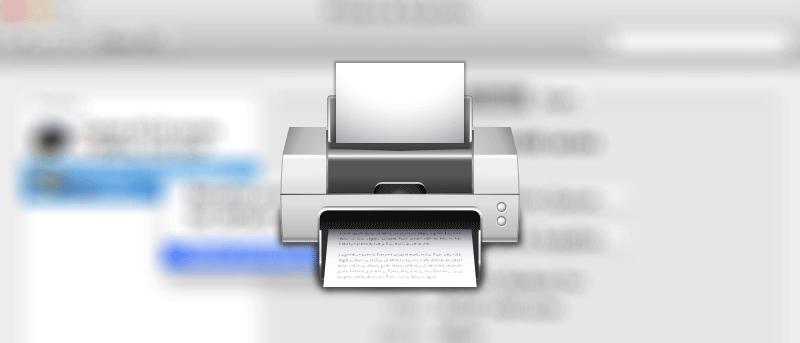 Cómo restablecer impresoras en su Mac