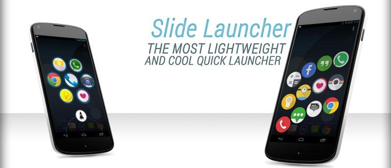 Use Slide Launcher para acceder rápidamente a sus aplicaciones favoritas en Android