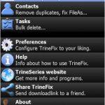 Repare archivos y elimine contactos duplicados en Pocket Outlook con TrineFix